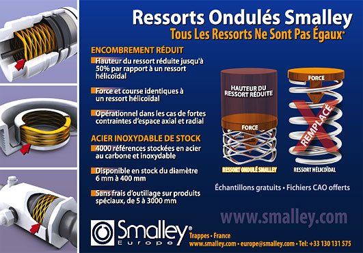 Ressorts ondulés Smalley