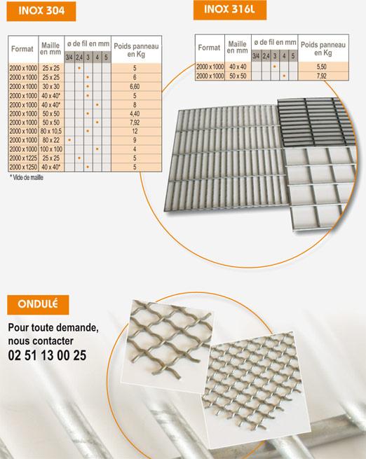 grillage soud inox 304 316l et ondul. Black Bedroom Furniture Sets. Home Design Ideas